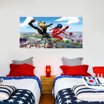 Miraculous - Ladybug and Cat Noir Paris Wall Sticker