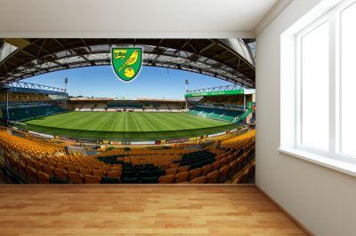 Norwich City FC - Carrow Road (Full Wall) Mural