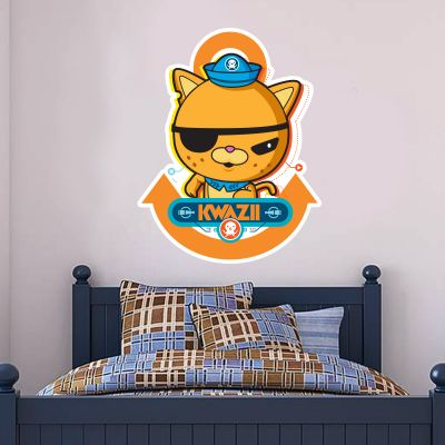 Octonauts Kwazii Kitten Cut Out Wall Sticker Mural