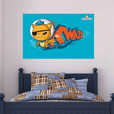 Octonauts Kwazii Kitten Diving Wall Sticker Mural