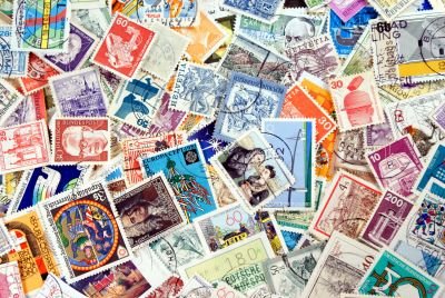 Old Postage Stamps Wall Mural