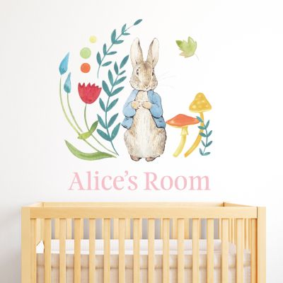 Peter Rabbit Personalised Wall Sticker Mural