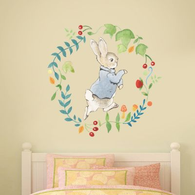 Peter Rabbit Wreath Wall Sticker Mural