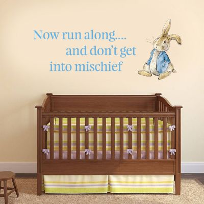 "Peter Rabbit ""Don't Get Into Mischeif"" Wall Sticker"