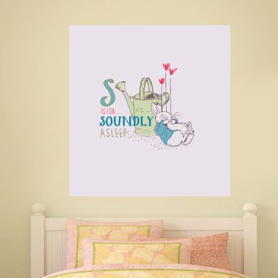 Peter Rabbit S Is For Soundly Asleep Wall Sticker Mural