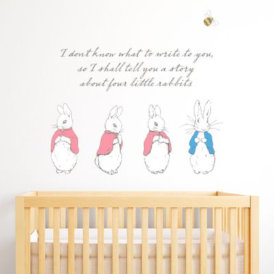 Peter Rabbit I Shall Tell You A Story Wall Sticker Mural