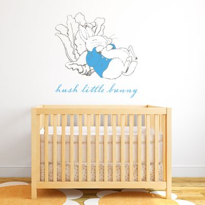 Peter Rabbit Hush Little Bunny Wall Sticker Mural