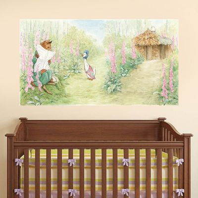 Peter Rabbit Mr Tod and Jemima Puddle Duck Wall Sticker Mural