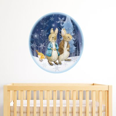 Peter Rabbit and Benjamin Bunny Winter Themed Wall Sticker Mural
