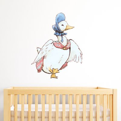 Peter Rabbit Jemima Puddle Duck Scarf and Bonnet Wall Sticker Mural