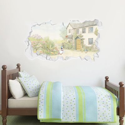 Peter Rabbit Smashed Country House Wall Sticker Mural