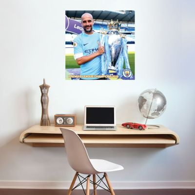 Premier League Champions 2018 - Pep Guardiola Trophy Shot Mural + Wall Sticker Set