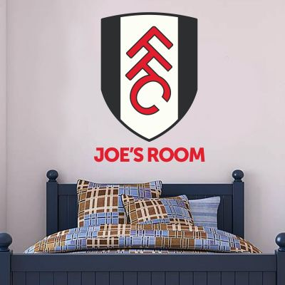 Fulham Football Club Personalised Name & Crest Wall Sticker