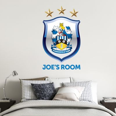 Huddersfield Town Football Club - Crest & Personalised Name + Terriers Wall Sticker Set