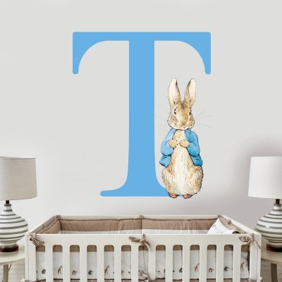 Peter Rabbit & Personalised Letter Wall Sticker