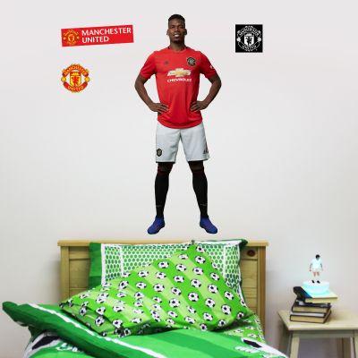 Manchester United F.C. - Paul Pogba Player Decal + Bonus Wall Sticker Set