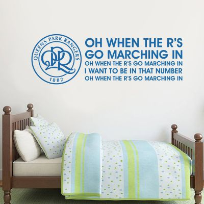 Queens Park Rangers F.C. - Crest & Song + Hoops Wall Sticker Set