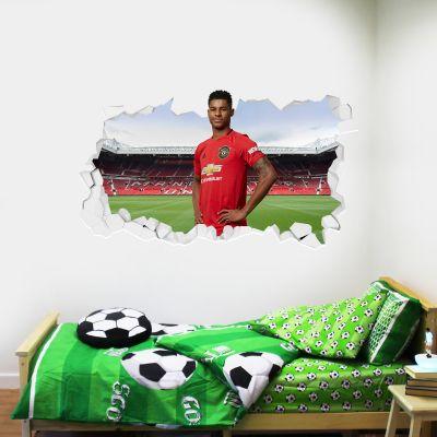 Manchester United F.C. - Marcus Rashford Broken Wall Sticker
