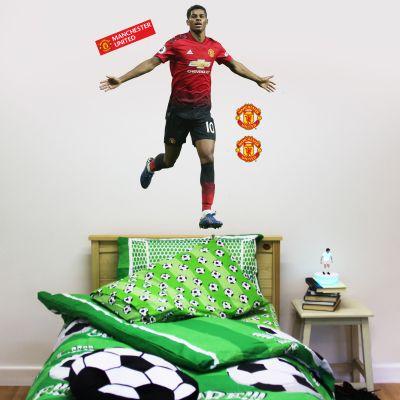 Manchester United F.C. - Marcus Rashford Celebration Player Decal + Bonus Wall Sticker Set