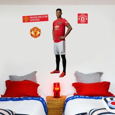 Manchester United F.C. - Marcus Rashford Player Decal + Bonus Wall Sticker Set