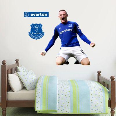 Everton Football Club Wayne Rooney Goal Celebration Wall Mural Sticker