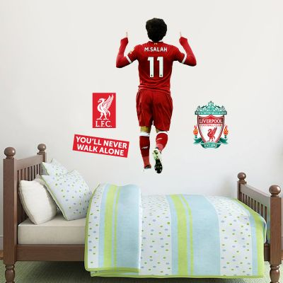 Liverpool FC - Mo Salah Celebration Player Decal + LFC Wall Sticker Set