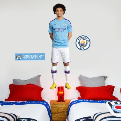 Manchester City FC - Leroy Sané 2019 Player Decal + Wall Sticker Set