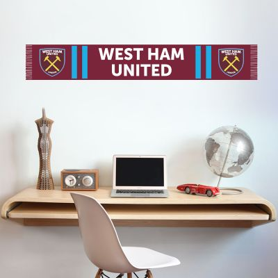 West Ham United Football Club Bar Scarf Wall Sticker Vinyl
