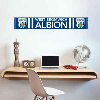 West Bromwich Albion Football Club Bar Scarf Wall Sticker