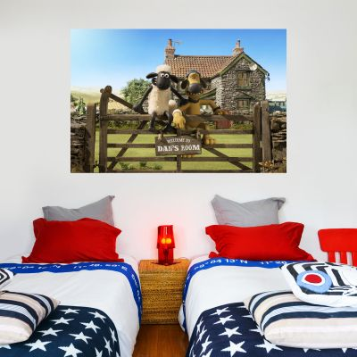 Shaun The Sheep - Personalised Farm Wall Sticker