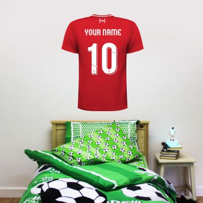 Liverpool Football Club - Personalised Shirt Wall Sticker + LFC Wall Sticker Set