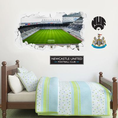 Newcastle United Football Club - Smashed St James Park Stadium Wall Mural + Toons Wall Sticker Set