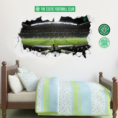 Celtic Football Club - Smashed Celtic Park Stadium Wall Mural + Celts Wall Sticker Set