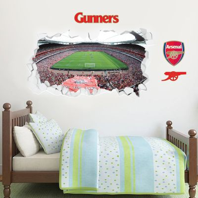 Arsenal Football Club - Smashed Emirates Stadium Mural + Wall Sticker Set
