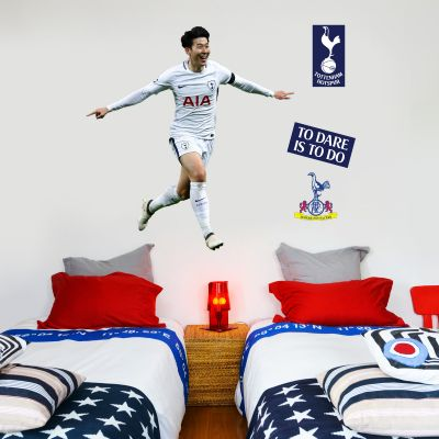 Tottenham Hotspur FC - Son Heung-min Celebrating Wall Mural + Spurs Wall Sticker Set