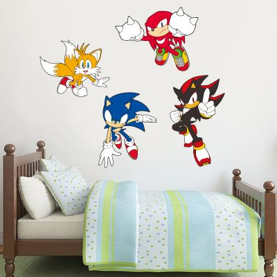 Sonic The Hedgehog - Sonic, Tails, Knuckles and Shadow Wall Stickers