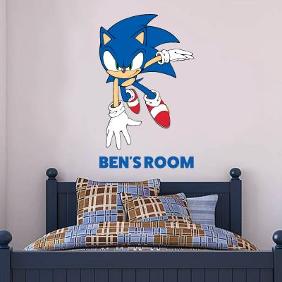 Sonic The Hedgehog - Sonic Personalised Name Wall Sticker