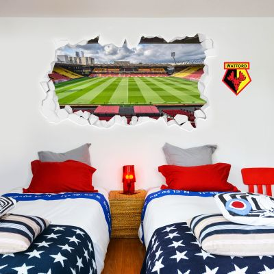 Watford FC -  Smashed Vicarage Road Stadium Wall Sticker