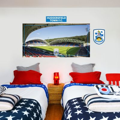 Huddersfield Town Football Club - Kirklees Stadium (Corner Shot) + Terriers Wall Sticker Set