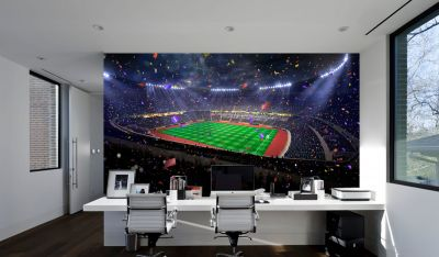 Football Stadium Celebration (Full Wall) Mural