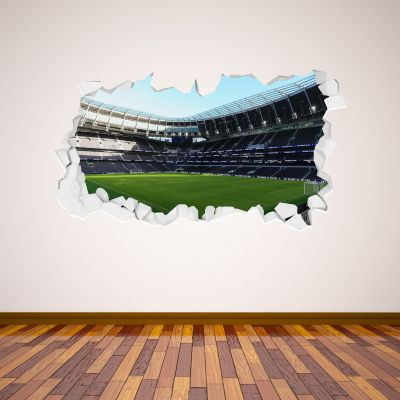 Tottenham Hotspur Football Club - Stadium Broken Wall Mural (Inside) + Spurs Wall Sticker Set