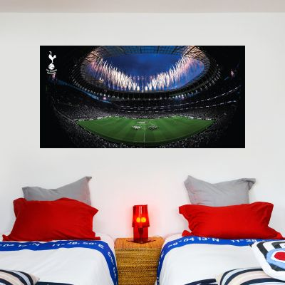 Tottenham Hotspur Football Club - Stadium Mural (Inside Fireworks) + Spurs Wall Sticker Set
