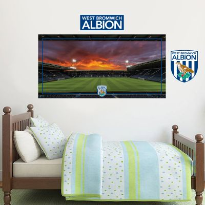 West Bromwich Albion Football Club - Hawthorns Stadium (Night) + Baggies Wall Sticker Set