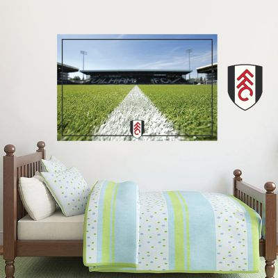 Fulham Football Club Craven Cottage Stadium Wall Mural & Crest Wall Sticker