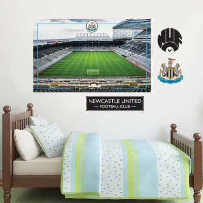 Newcastle United Football Club - St James Park Stadium Mural + Toons Wall Sticker Set
