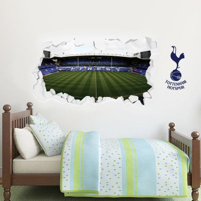 Tottenham Hotspur Football Club Stadium Wall Smash Mural & Spurs Wall Sticker Set