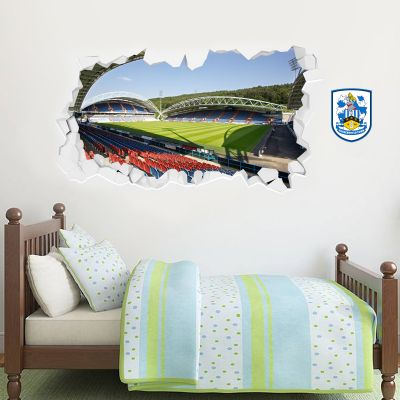 Huddersfield Town Football Club - Smashed Kirklees Stadium (Corner Shot) + Terriers Wall Sticker Set