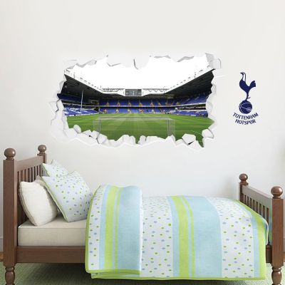 Tottenham Hotspur Football Club - Smashed Stadium Shot Behind The Net Mural + Spurs Wall Sticker Set