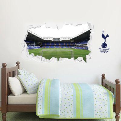 Tottenham Hotspur Football Club Stadium Behind The Net Wall Smash Mural & Spurs Wall Sticker Set