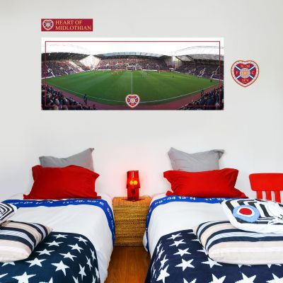 Hearts Football Club - Tynecastle Park Stadium + Wall Sticker Set